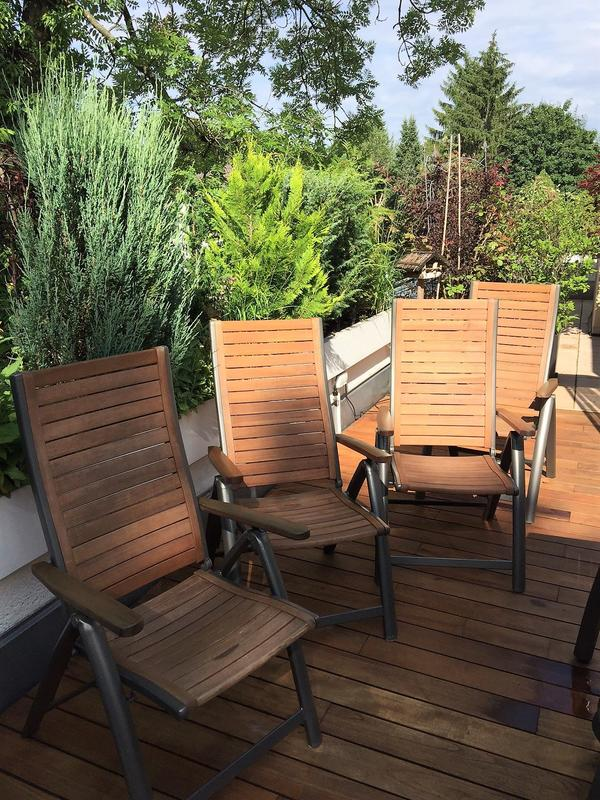 Sunfun 4 exklusive Hoch-Lehner Gartenstühle zum Klappen mit ...