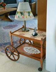 Teewagen Servierwagen Beistellwagen Tisch aus