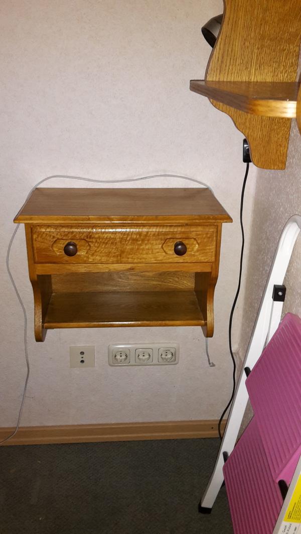 Telefontisch mit Schublade in Eiche rustikal (zur Wandmontage) gebraucht kaufen  36381 Schlüchtern