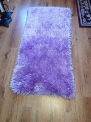 Teppich Handgestrickt fliederfarben