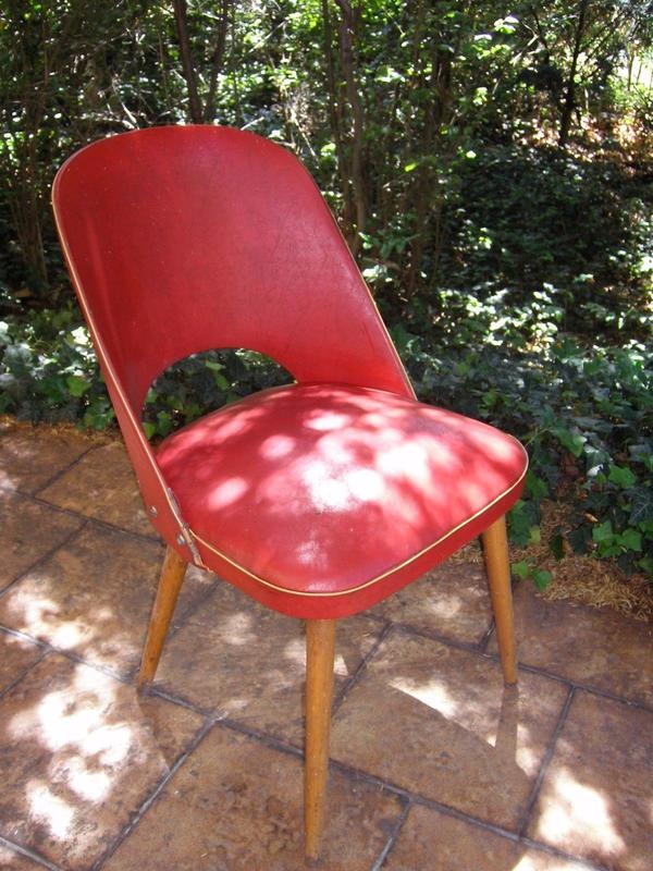 Thonet Cocktailstuhl 1950 4 Stuhle Rot Blau Grun In