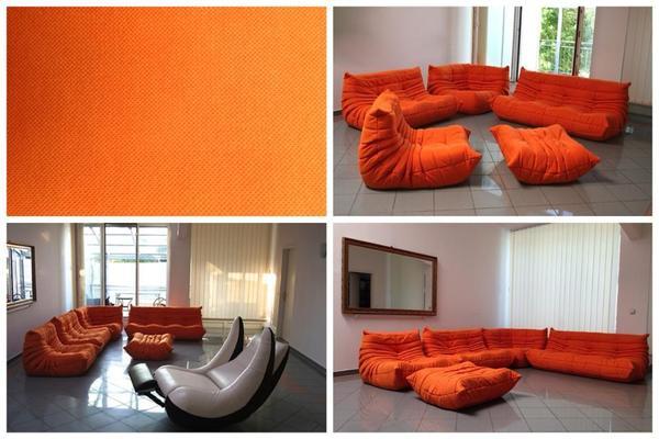 togo ligne roset creame orange design in freiburg. Black Bedroom Furniture Sets. Home Design Ideas