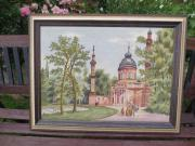 toller alter Gobelin vom Schwetzingerer-Schloss