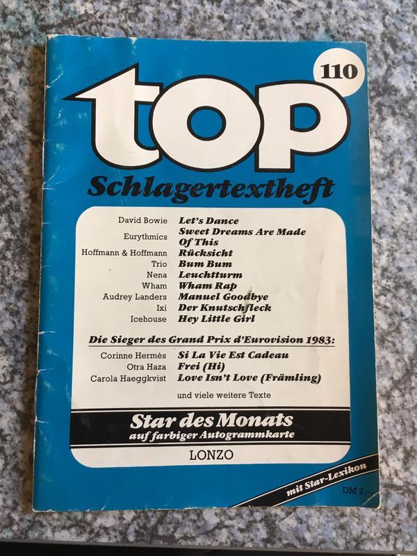 TOP Schlagertexthefte Original Retro 80er