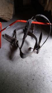 Uraltes Pferdegeschirr mit