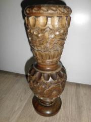 Vase--Holzvase--GEDRECHSELTE--HANDGESCHNITZTE --KERZENHALTER AUS DEUTSCHE EICHE