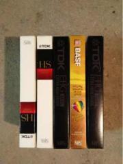 VHS Kassetten 50 Stück BASF