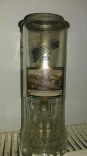 Wernersgrüner Glaskrug Zinndeckel