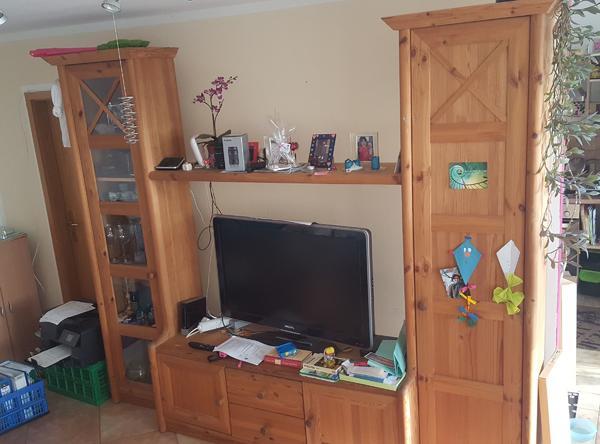 Wohnzimmerschrank Kiefer massiv in Unterhaching - Wohnzimmerschränke ...