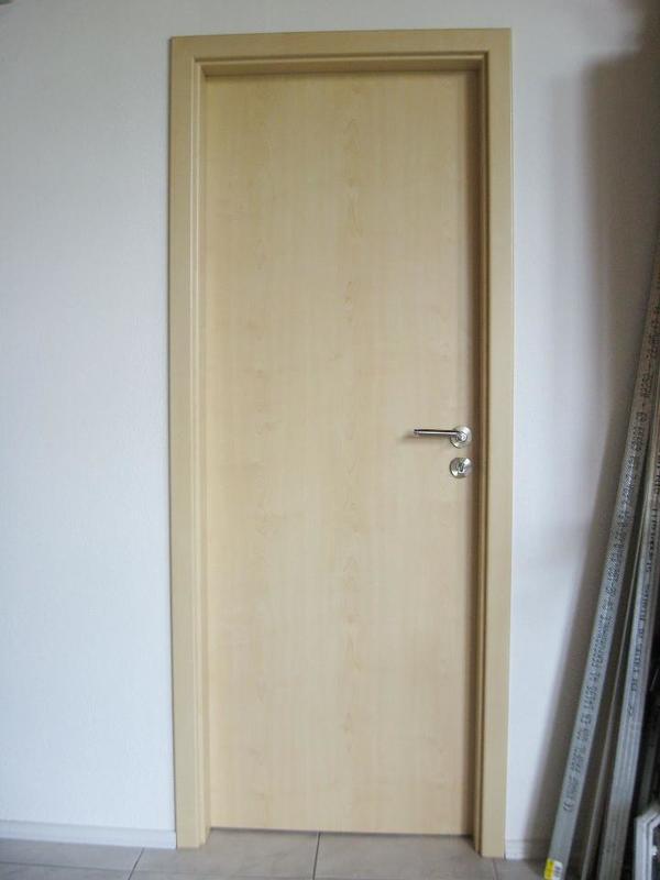 Zimmertür zarge  Zimmertür Ahorn mit Zarge NEU 198,5 x 73,5 x 9 cm, DIN links in ...