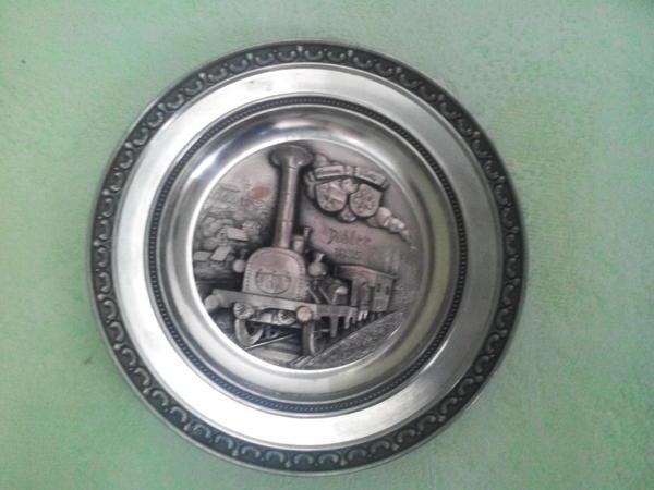 Zinnteller Adler 1835 1 Eisenbahn